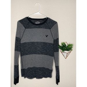American Eagle striped thermal